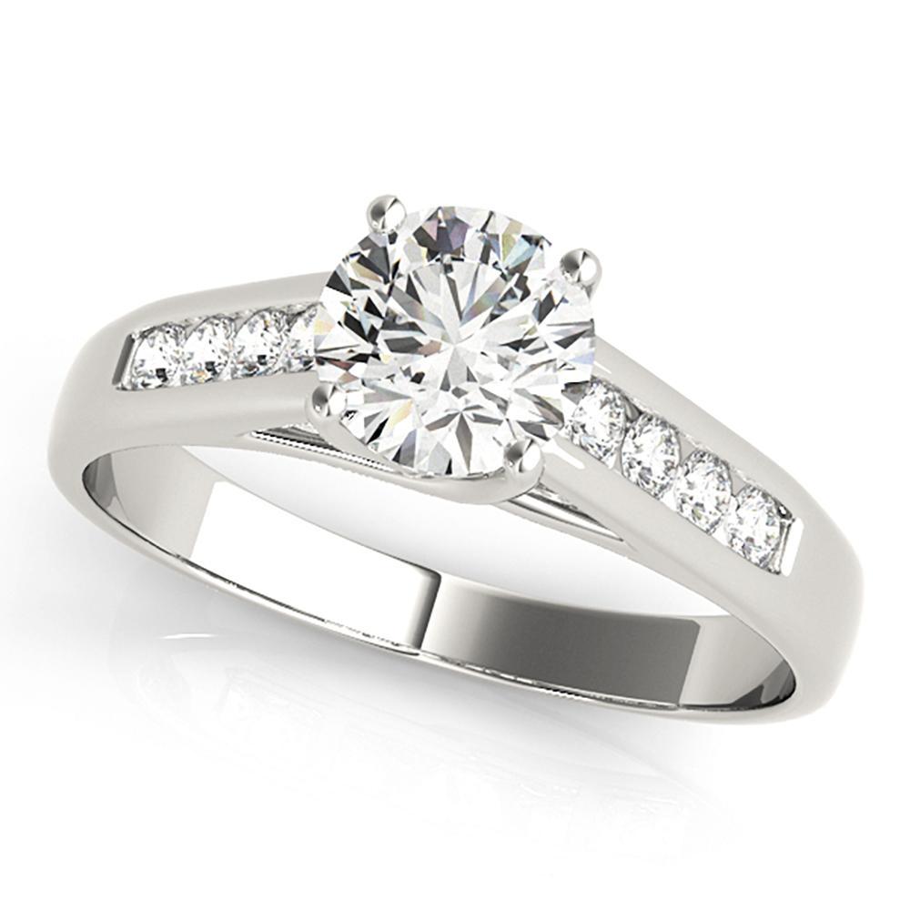 Natural 2.42 CTW Diamond Engagement Ring 18K White Gold