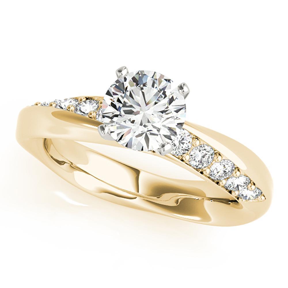 Natural 1.35 CTW Diamond Engagement Ring 18K Yellow Gold