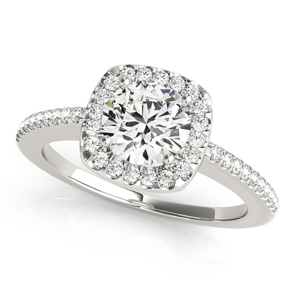 Natural 1.97 CTW Diamond Engagement Ring 18K White Gold