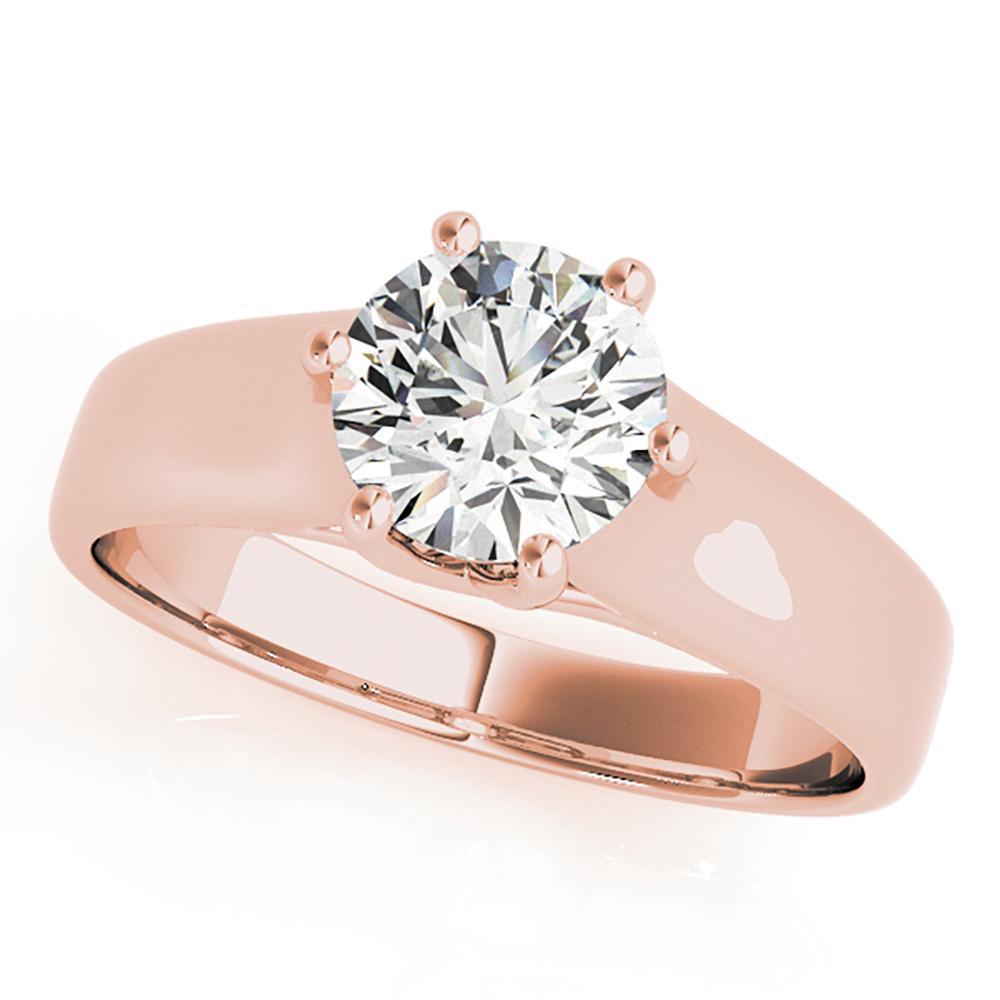 Natural 2.5 CTW Diamond Engagement Ring 18K Rose Gold