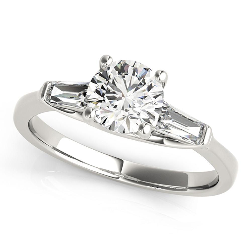 Natural 1.2 CTW Diamond Engagement Ring 18K White Gold