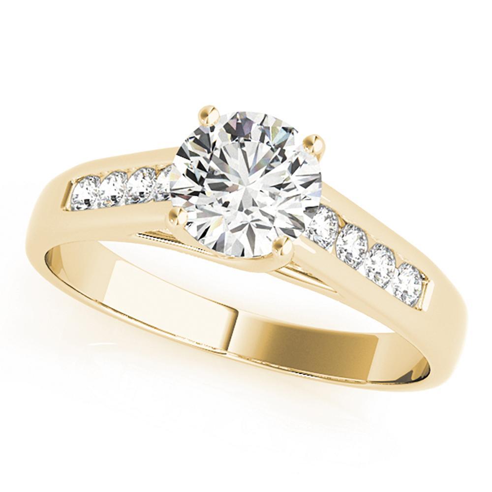 Natural 0.95 CTW Diamond Engagement Ring 18K Yellow Gold