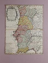 Jean-Baptiste Nolin (1686-1762) Carte du Royaume du Portugal XVIIIe siècle