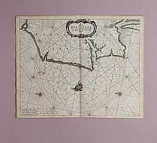 Pieter Goos (1616-1675) Carte marine du Portugal circa 1650-1685