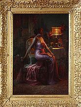 Delphin Enjolras (1857-1945) Élegante à la lampe