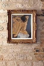 Suzanne VALADON (1865-1938)  Nu de dos devant une glace  1904  Pastel sur papier signé et daté en haut à droite