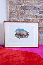 Annette MESSAGER (née en 1943)  Le Bonheur illustré  1975  Fusain et crayons de couleur sur papier contrecollé sur carton, signé, daté et titré au dos