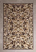 Tapis à décor géométrique style Art déco