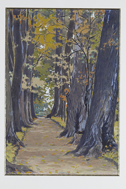 Vladimir Kotchegoura (1904-1970)  Chemin dans la forêt