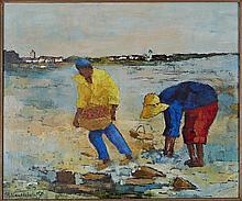 Roger Vandenbulcke (1921) Pêcheurs à l'île de Ré