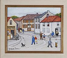 Jacques Hara (né en 1933) Animation au village