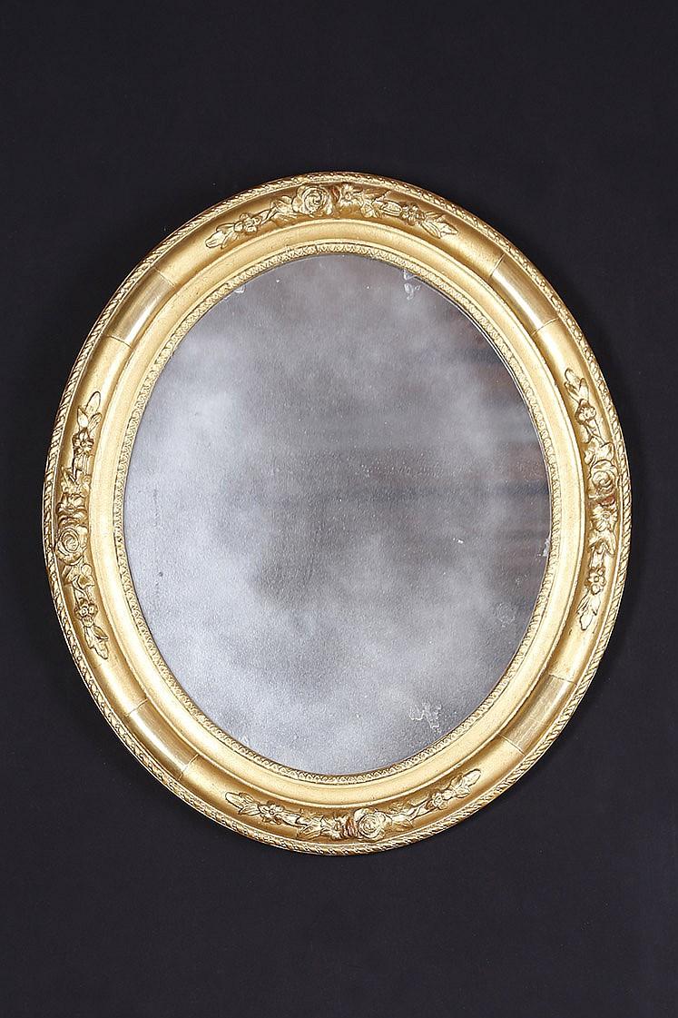 Miroir ovale for Miroir paris france