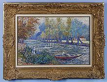 Lucien Neuquelman (1909-1988) La Pêche en rivière