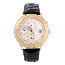 AUDEMARS PIGUET - a gentleman's 18ct rose gold Huitième chronograph wrist watch.
