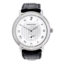 AUDEMARS PIGUET - a gentleman's 18ct white gold Jules Audemars wrist watch.