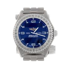 BREITLING - a gentleman's titanium Professional Emergency bracelet watch.