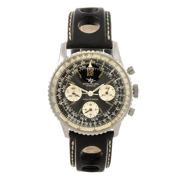 (92504) A stainless steel manual wind chronograph gentleman's Breitling Navitimer wrist watch.