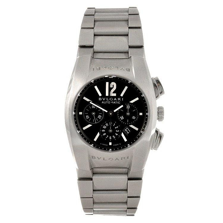 A stainless steel automatic chronograph gentleman's Bulgari Ergon bracelet watch