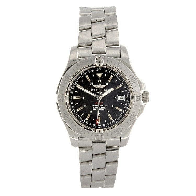 A stainless steel automatic gentleman's Breitling Aeromarine Colt bracelet watch.