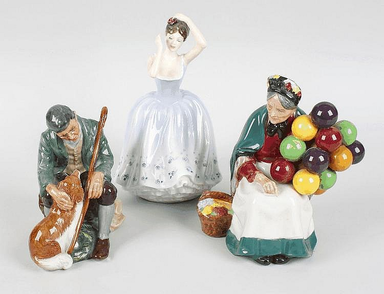Three Royal Doulton figures