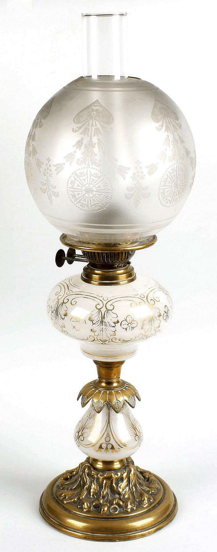 A Victorian paraffin lamp