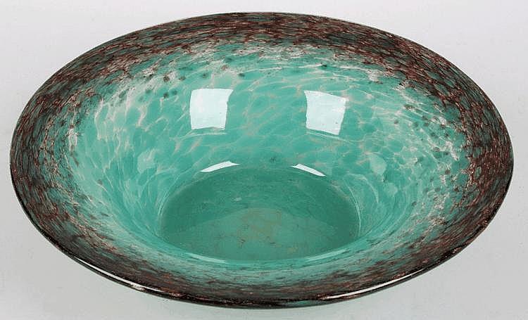 A Monart glass bowl