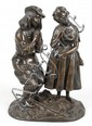 Bronze figure group of a courting couple