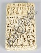 A 19th century Chinese Canton ivory card case