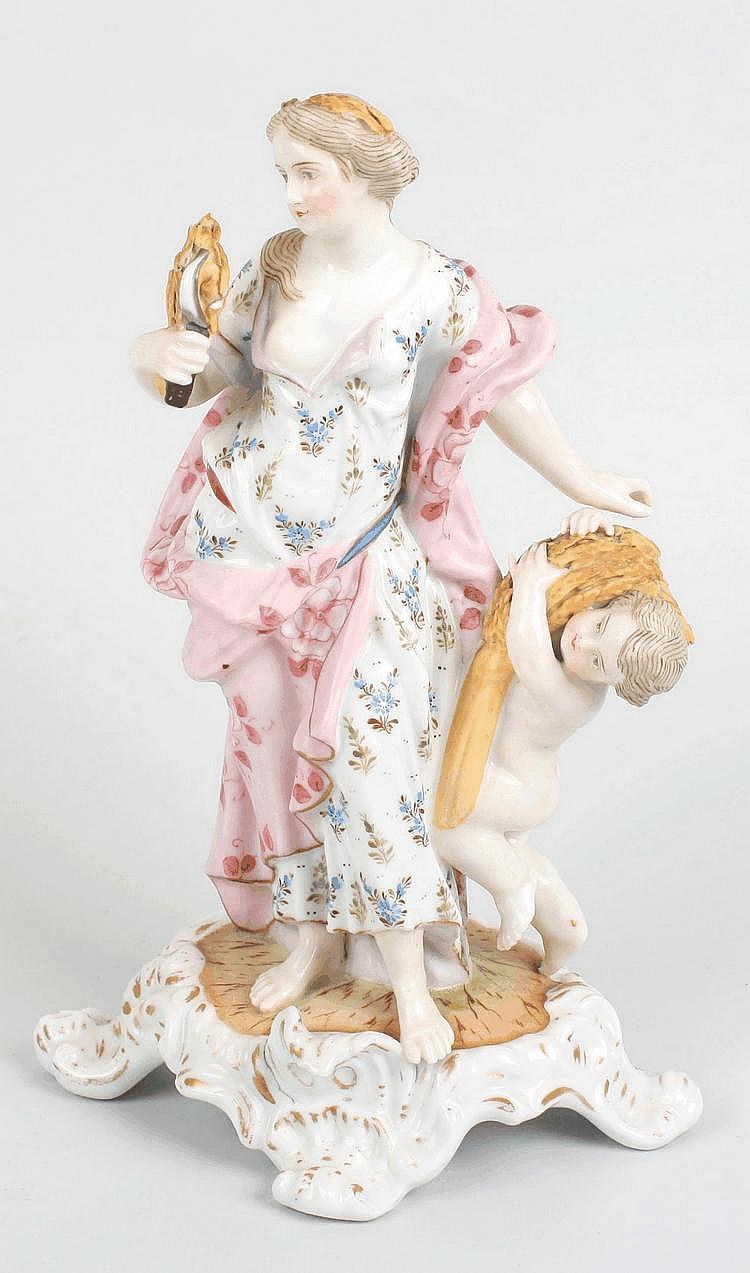 A German porcelain figure modelled as Summer
