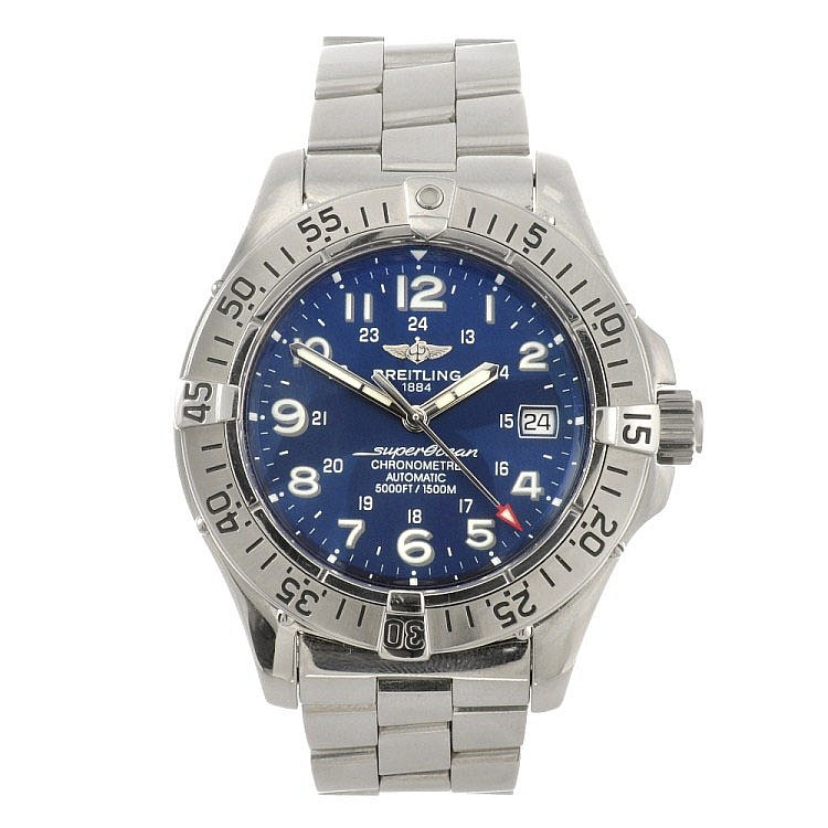 (133099875) A stainless steel automatic gentleman's Breitling Aeromarine Colt bracelet watch.