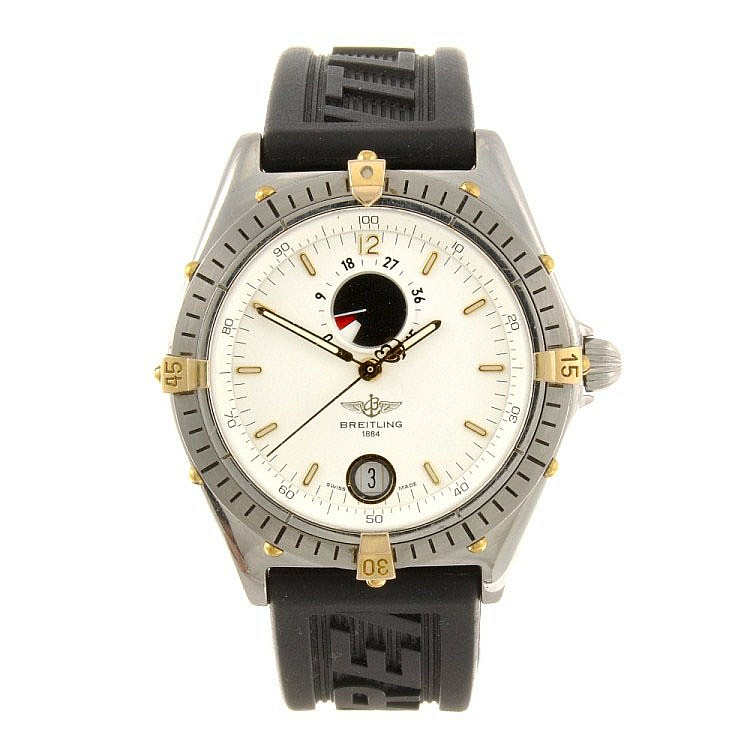 (116190178) A stainless steel automatic gentleman's Breitling Windrider bracelet watch.