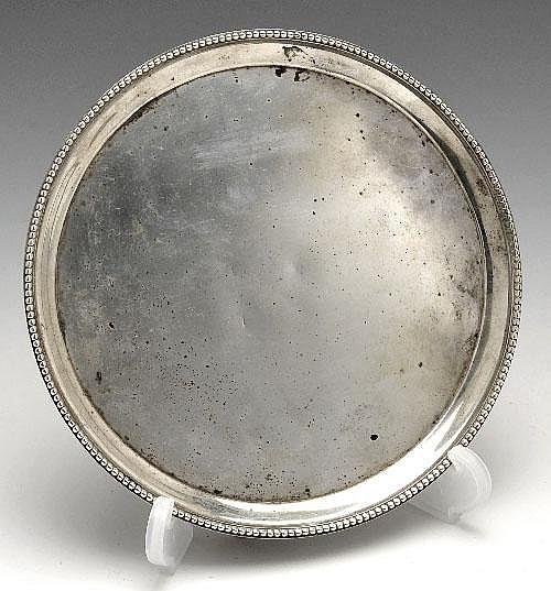 George III silver waiter.