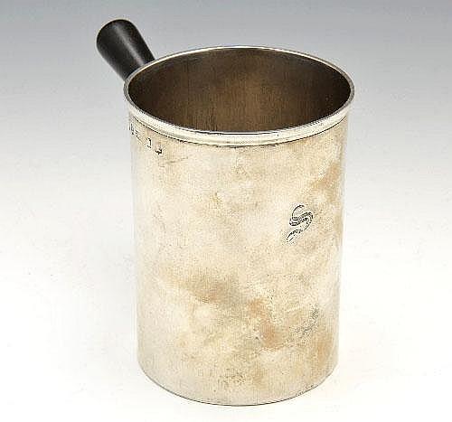 An early Victorian Edinburgh silver mulling pot.
