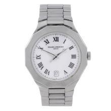 BAUME & MERCIER - a gentleman's Riviera bracelet watch. Stainless steel cas