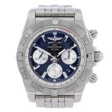 BREITLING - a gentleman's Chronomat 01 chronograph bracelet watch. Stainles