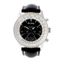 BREITLING - a gentleman's Navitimer Montbrillant chronograph wrist watch. S