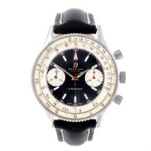 BREITLING - a gentleman's Chronomat chronograph wrist watch. Stainless stee