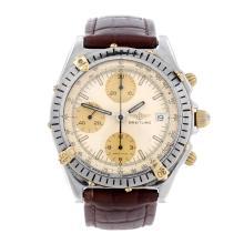 BREITLING - a gentleman's Chronomat Blackbird chronograph wrist watch. Stai
