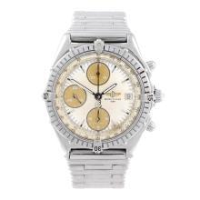 BREITLING - a gentleman's Chronomat chronograph bracelet watch. Stainless s