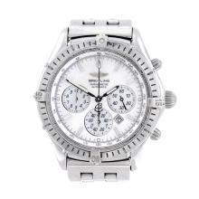 BREITLING - a gentleman's Windrider Shadow Flyback chronograph bracelet wat