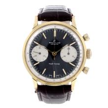 BREITLING - a gentleman's Top Time chronograph wrist watch. Gold plated cas