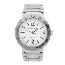 BULGARI - a gentleman's Bulgari bracelet watch. Stainless steel case. Refer