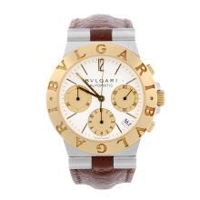 BULGARI - a gentleman's Diagono chronograph wrist watch. Stainless steel ca