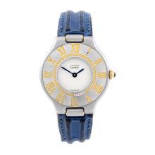 CARTIER - a Must de Cartier 21 wrist watch. Stainless steel case with chapt