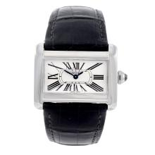 CARTIER - a Divan wrist watch. Stainless steel case. Reference 2599, serial