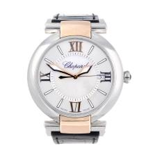 CHOPARD - a lady's Imperiale wrist watch. Stainless steel case with yellow