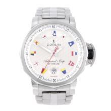 CORUM - a gentleman's Admiral's Cup bracelet watch. Stainless steel case. R