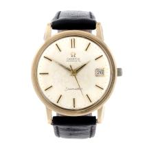 OMEGA - a gentleman's 9ct yellow gold Seamaster wrist watch