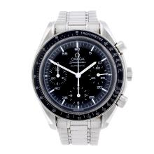 OMEGA - a gentleman's stainless steel Speedmaster chronograph bracelet watch