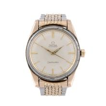 OMEGA - a gentleman's gold plated Seamaster bracelet watch